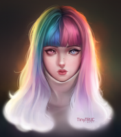 Color Hair Girl by TinyTruc