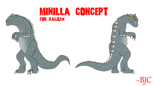 COMMISSION - Minilla Concept by BigJohnnyCool