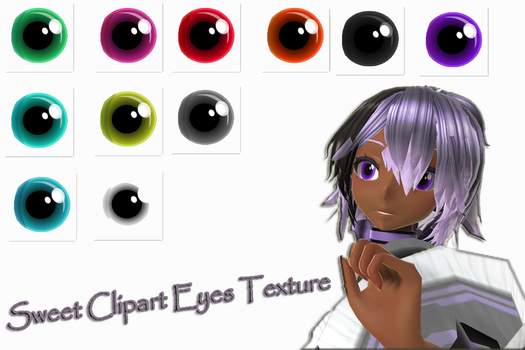 [MMD] Sweet Clipart Eye Texture ~DL~ by RaiShooter