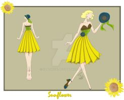 Sunflower Dress by sunshishi
