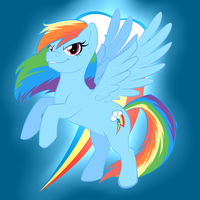 Rainbow Dash by Izzydactyl
