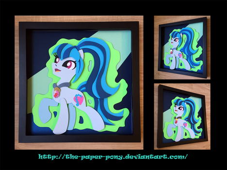 12x12 Sonata Pony Form Shadowbox by The-Paper-Pony