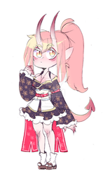 [CLOSED] Oni Girl Adoptable! by IkkiIirie01