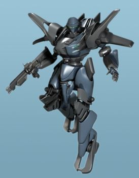 unnamed mecha by 3dsquid