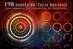 198 Simple Hi-Tech Sci-Fi Circle Brushes by XResch