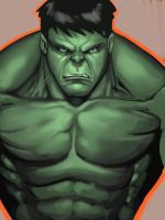 Hulk sketch by BESTrrr