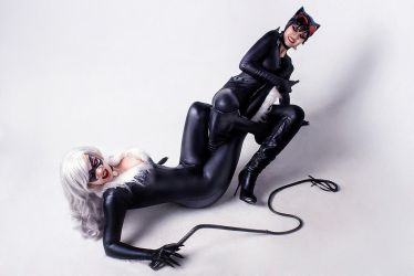CatWoman DC Comics Black Cat Marvel by AGflower