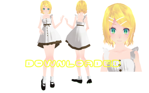 MMD-Rin In Dress-DL by LinMaro18