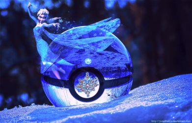 Pokeball of Elsa from Frozen by Jonathanjo