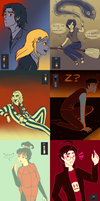 Color palette drawings by sayuri12moonlight