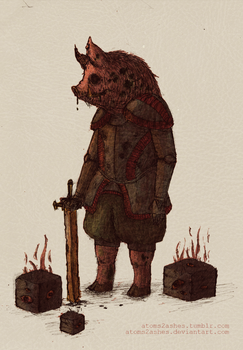 Zombie Pigman by atoms2ashes