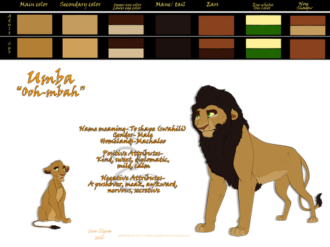 Umba Reference Sheet by Sarn-Elyren