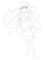 Sailor Sun Lineart -collab- by SRealms