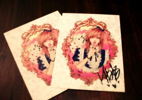 signed postcards by khaoskai