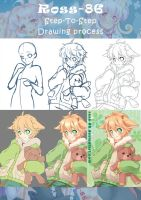 Ross' Step to Step drawing process by Ross-86