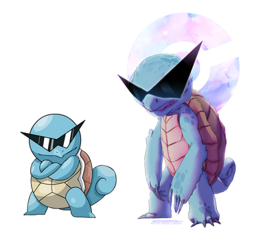 Kanto Starters (Squirtle Squad)(comparison) by ArtStudioAngel