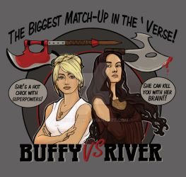 Buffy vs River by khallion