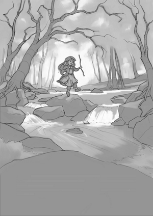 Into the Woods - Sketch by Aliciane