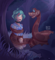 Are you losssssst? Kaa and Rin by HirotoStar