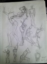Gesture drawings by KidDarknessAnimation
