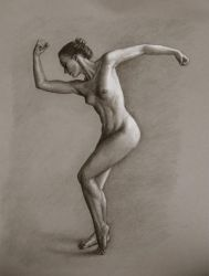 Figure Drawing- Lady in Motion by lithriel