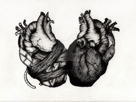 Hearts combined - The Print by Miss-Blurry
