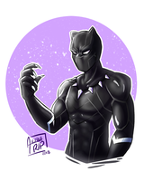 Black Panther [doodle] by aileenarip