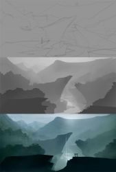 How to Paint a Landscape Painting and Matte basics by Istebrak