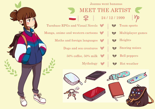 Meet the artist! by joannawentbananas