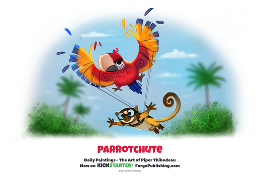 Daily 1321. Parrotchute by Cryptid-Creations