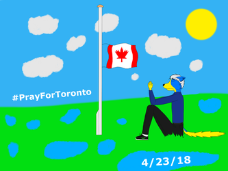 Dirch praying for Toronto by trainnerdFromDenmark