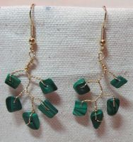Malachite Vine Drop Earrings by the-twisted-vine