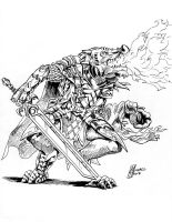 Dragonborn Paladin Character Design by MichaelHoweArts