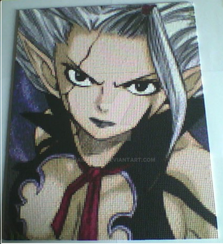 Satan Soul Mirajane in beads by hairybeny