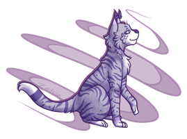 A Purple Cat by Zeldeon