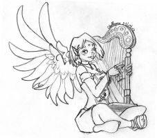Ange-harpe by Shelleyna