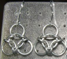 Chainmaille Earring 42 by Des804