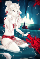 PPC-- Red crystals by Purrinee
