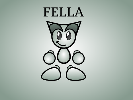 My drawing of Fella by BubbleBotMicheal