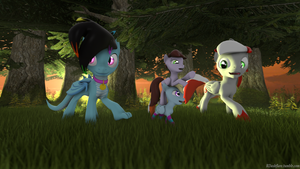 Evening stroll with Rdash by FireAndRose