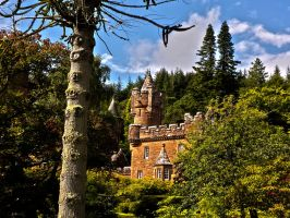 Glenborrodale Castle by SkellMan
