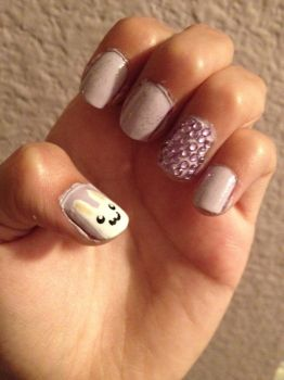 bunny nails by missbluestar14