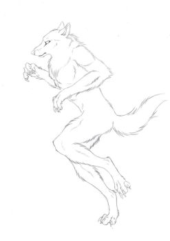 running werewolf outlines by Crow-Face