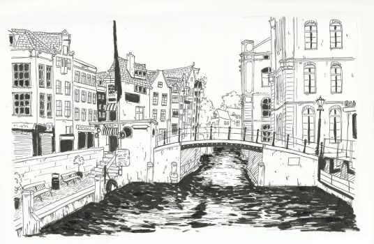 Inktober 2017 Day 12: Amsterdam by small-light