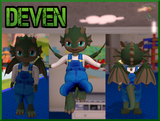 Deven in Second life (CM) by tailslover42