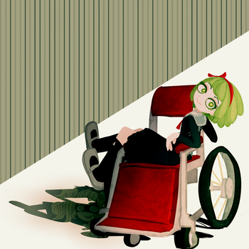 evil disabled picklehaired girl by Faraminia