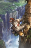Goat of the cliff by artcobain