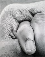 Bodyscapes 5: *The Little Finger*.  Pencil drawing by Denish-C