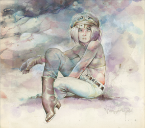 Watercolor piece at auction by rattlesnapper