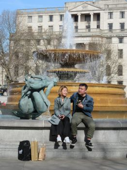By the Fountain by Citysnaps